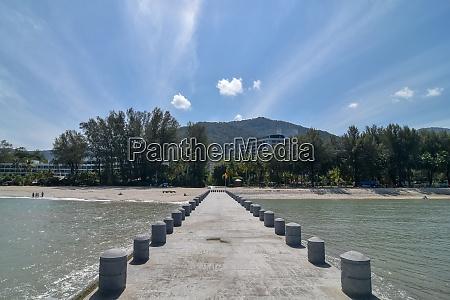 bridge at batu ferringhi in afternoon