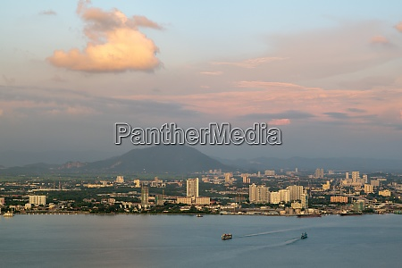aerial view penang ferry