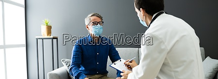 doctor with senior patient living at