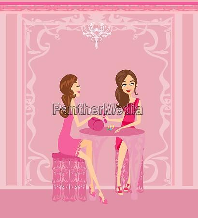 lady doing manicure in beauty salon