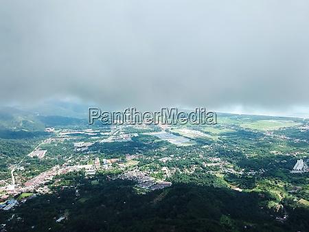 aerial view balik pulau in afternoon