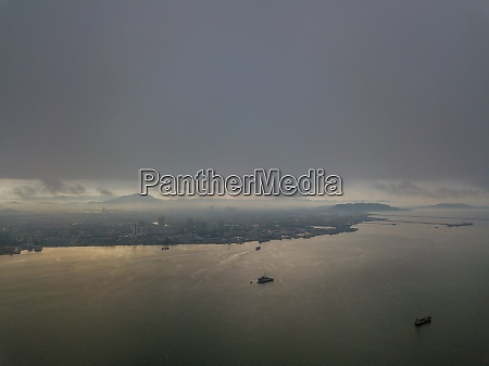aerial view perai from sea