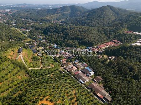 aerial view kampung baru bukit besar