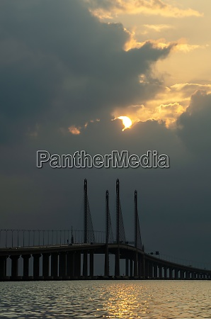 penang second bridge in morning