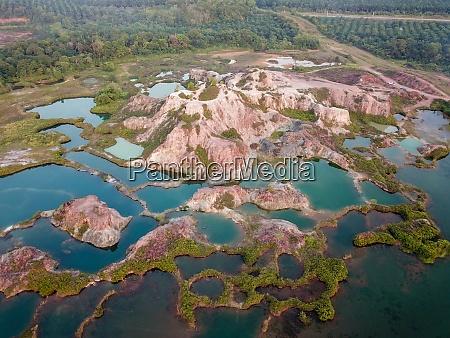 aerial view green nature at guar
