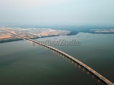 penang second bridge aerial view