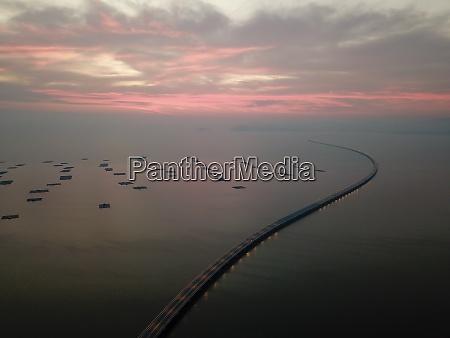 drone view penang second bridge