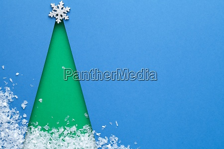 creative minimal art concept for christmas
