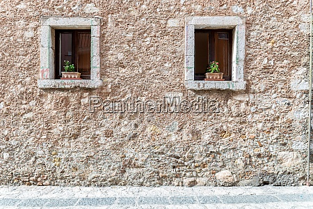 two wooden windows