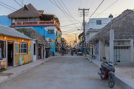 sandy road on holbox island quintana