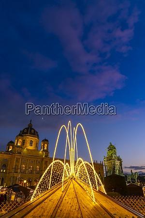 christmas decoration on maria theresa square