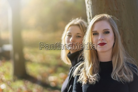 pair of attractive young women