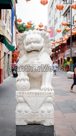 stone statue of a chinese dragon