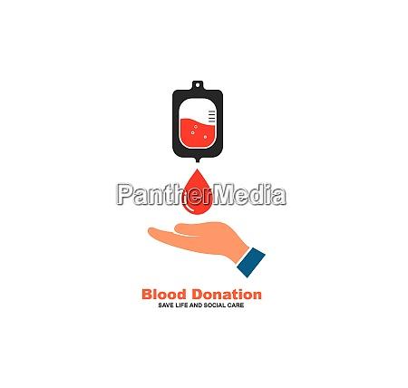 blood donation icon vector illustration