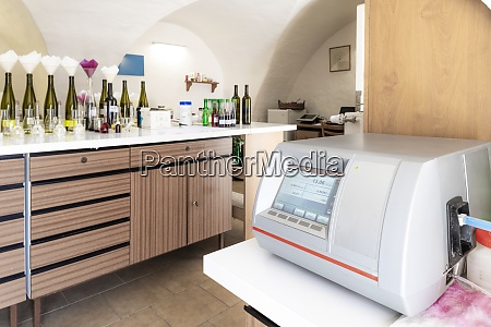 wines laboratory with traditional and modern