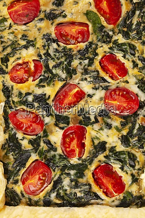 home made spinach quiche