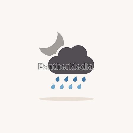 heavy rain cloud and moon color