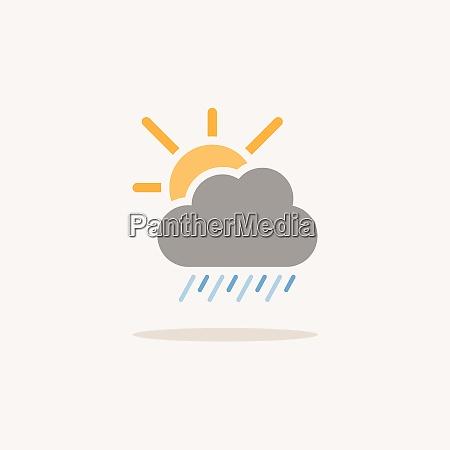 heavy rain cloud and sun color