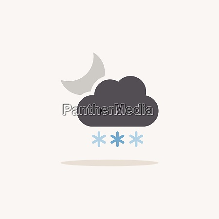 heavy snow cloud and moon color