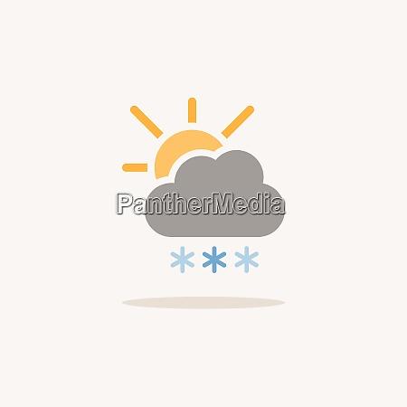 heavy snow cloud and sun color