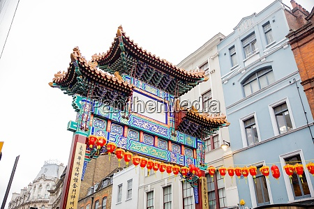 traditional chinese gate from the chinatown