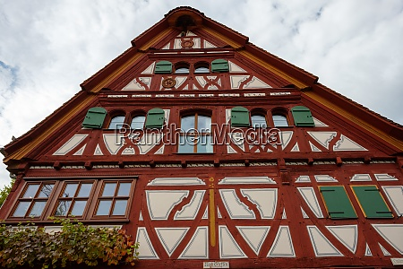 old timber framed house in germany