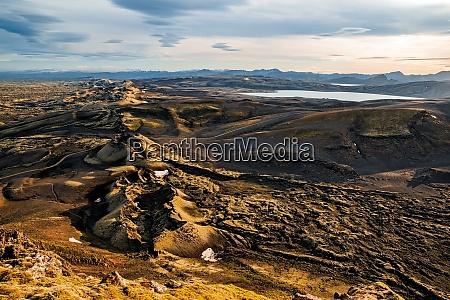 lakagigar at sunset iceland