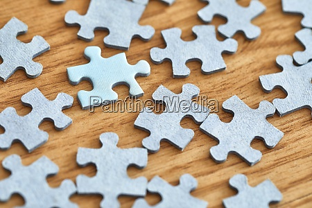 jigsaw puzzle pieces separately