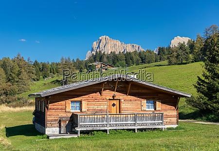huts on seiser alm alpe di