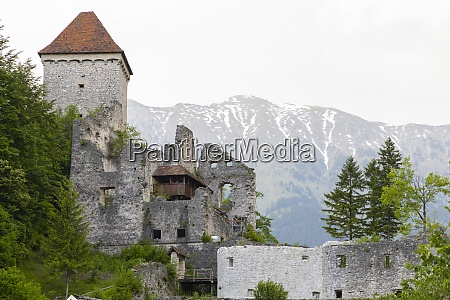 castle ruins kamen radovljica slovenia