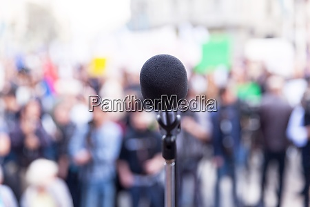 protest or political rally