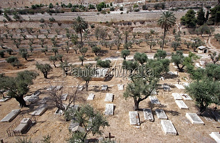 christian cemetery on the mount of
