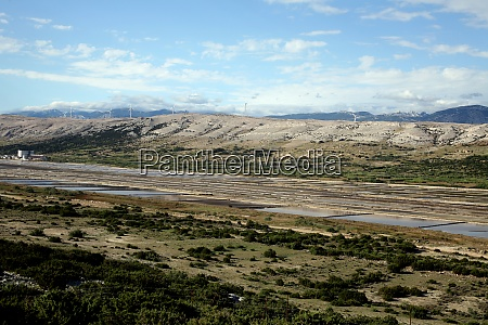 salt work island of pag croatia