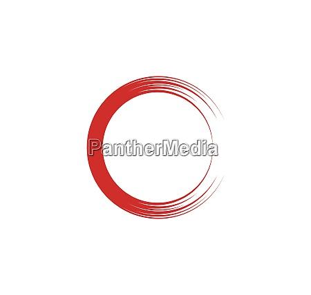 circle ring logo template vector