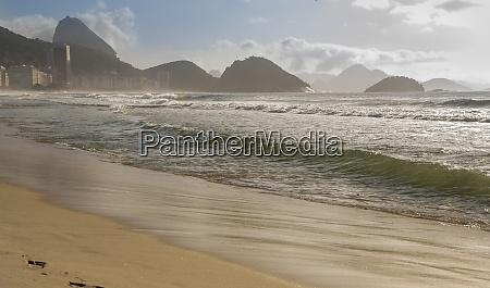 ocean surf on the beach of
