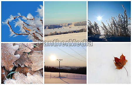 winter photo collage
