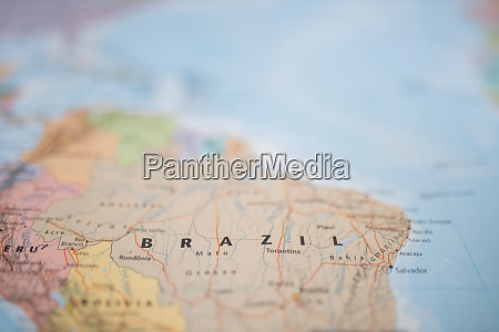 the country of brazil on a