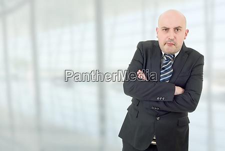 mad businessman portrait
