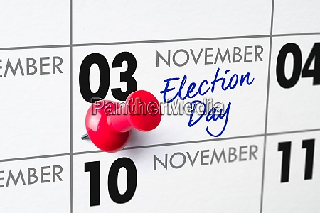 election day november 3