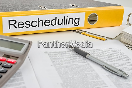folder with the label rescheduling