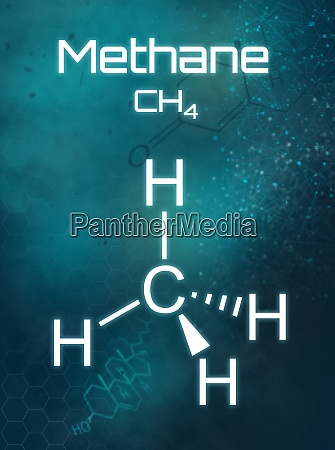 chemical formula of methane on a