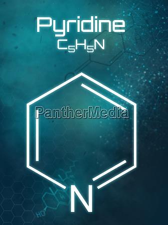 chemical formula of pyridine on a