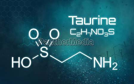 chemical formula of taurine on a