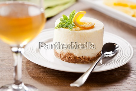 cheesecake with orange dessert