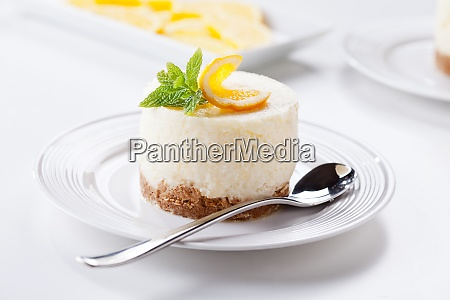 homemade cheesecake with orange