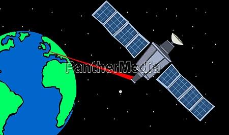 satellite laser