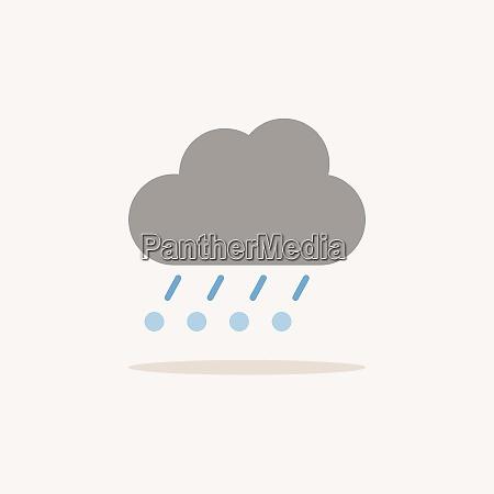 rain hail and cloud color icon
