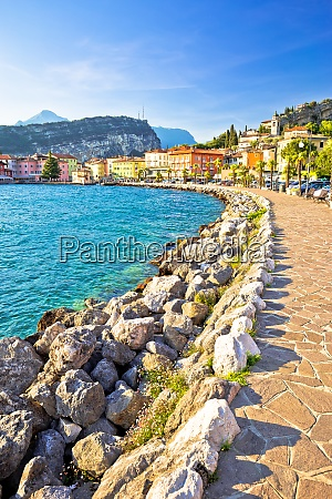 town of torbole on lago di