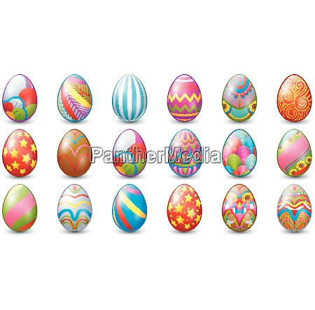 easter eggs decoration collection