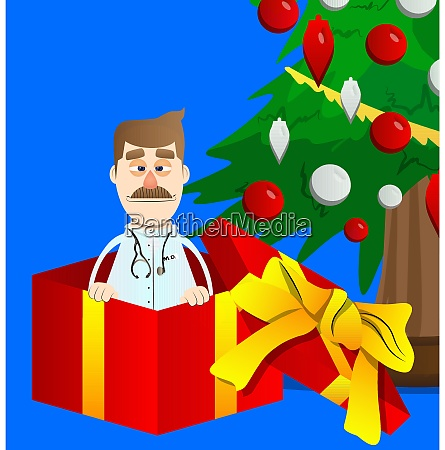 doctor in a gift box
